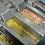 Step four--the press separates the oil, water, and waste